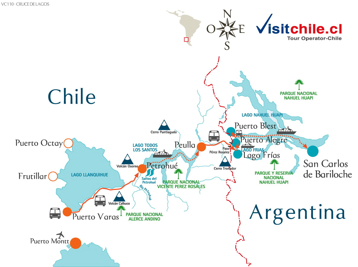Cruce Lagos Andinos Chile & Argentina
